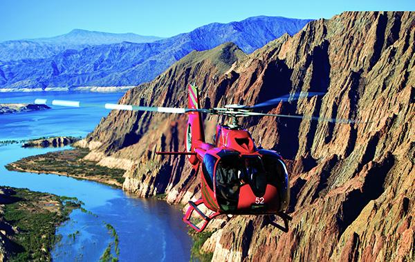 grand canyon helikopterezés folyó felett foglalás